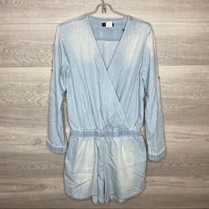 Blue Chambray Romper by Venus Size Small